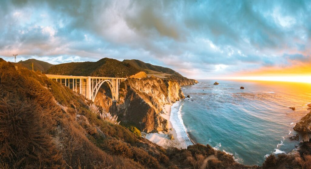 Bixby Creek Bridge in Big Sur, California.