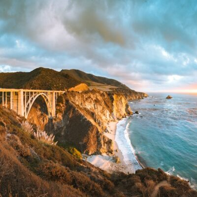 Bixby Creek Bridge in Big Sur, California.