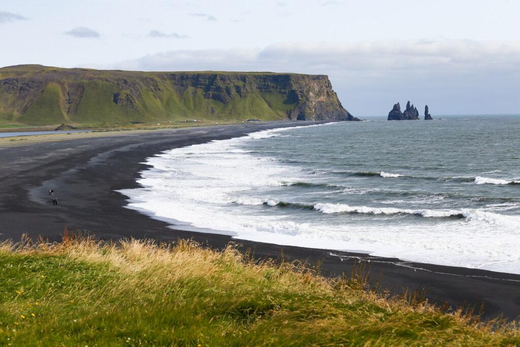 Black Sand Beach in Iceland.