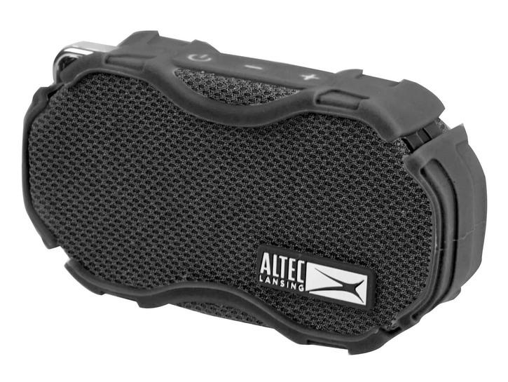 black waterproof bluetooth speaker