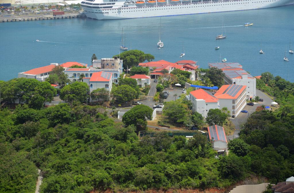 Blackbeard's Castle on St. Thomas island.