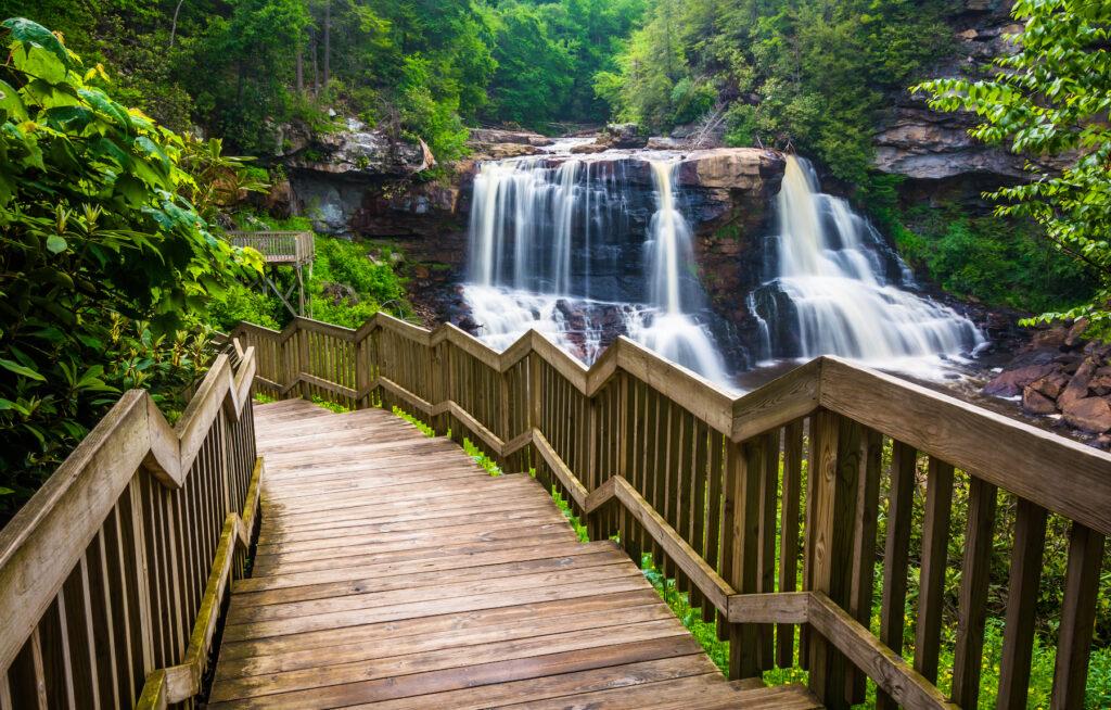 Blackwater Falls in West Virginia.