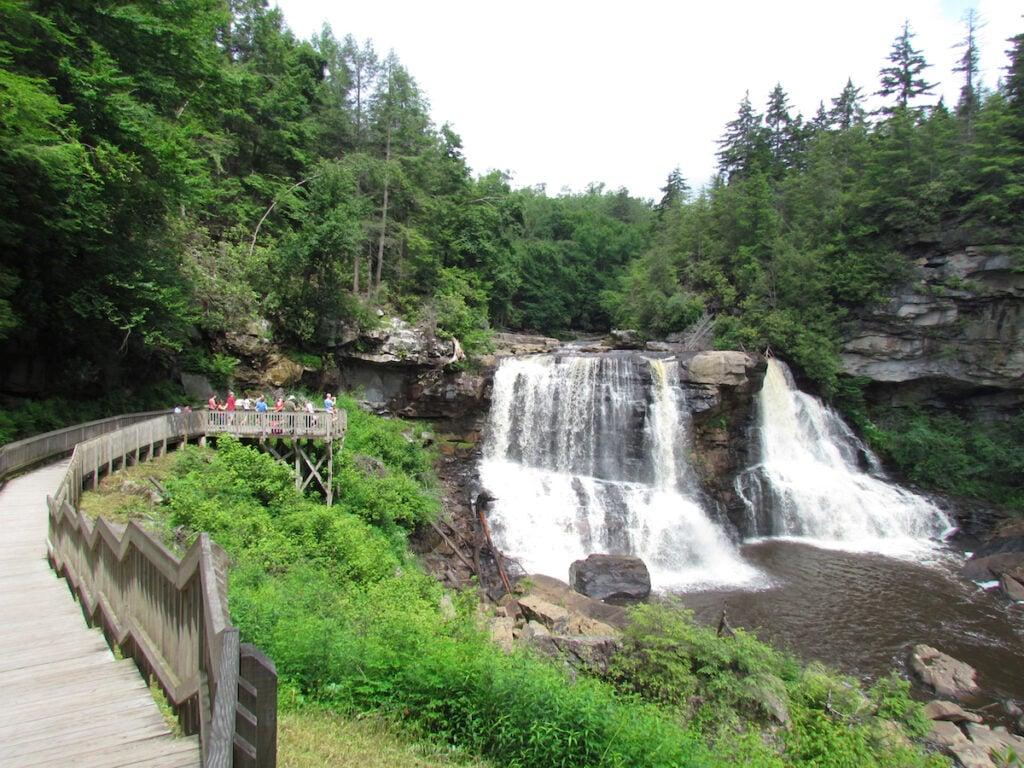 Blackwater Falls State Park in West Virginia.