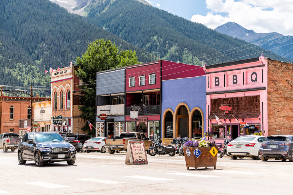 Blair Street in Silverton, Colorado.