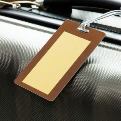 blank luggage tag
