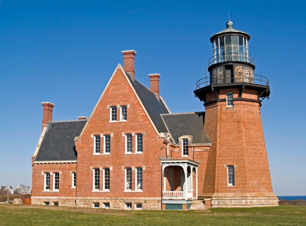 Block Island Southeast Lighthouse in New Shoreham, Rhode Island.