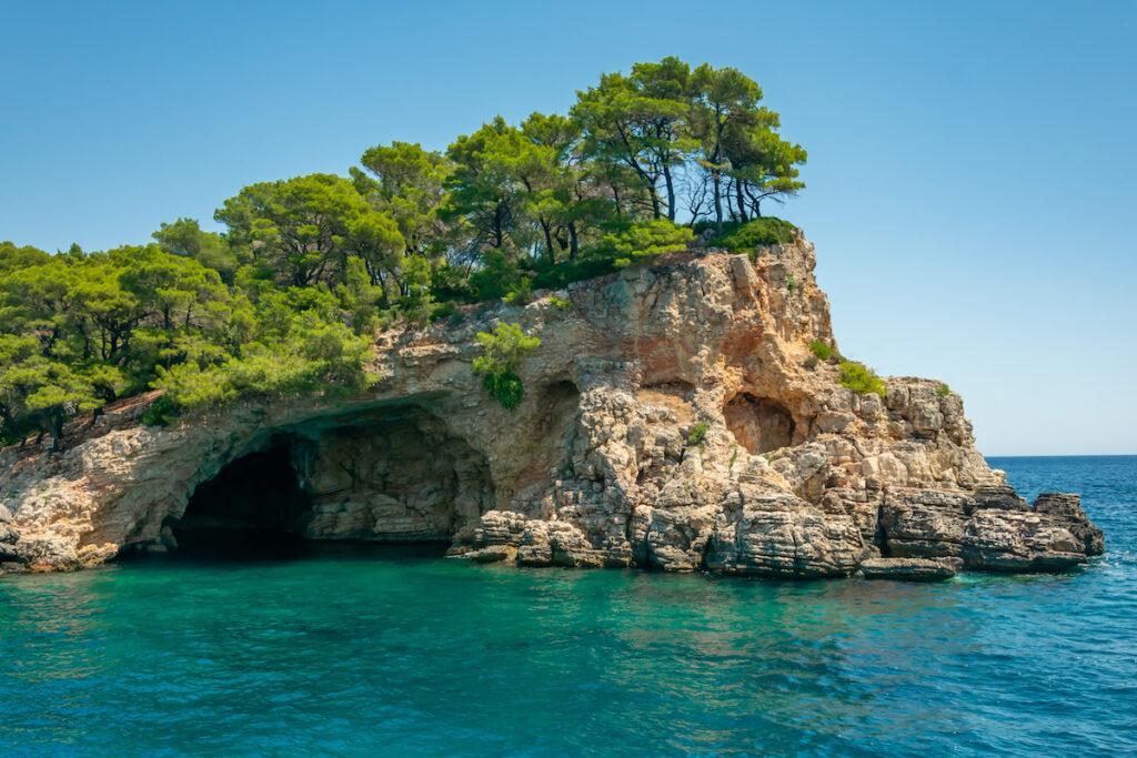 Blue cave of Alonissos, Sporades, Greece.