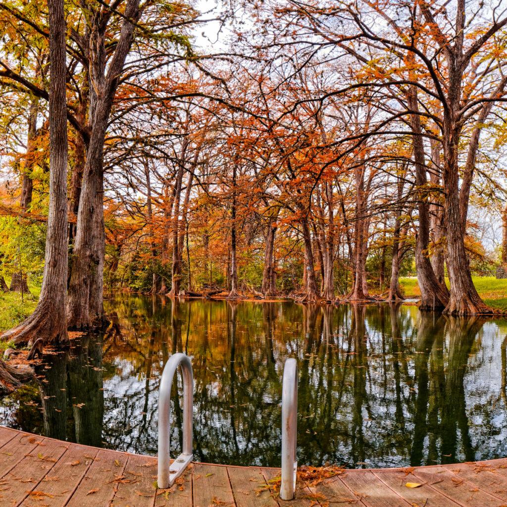 Blue Hole Regional Park in Wimberley, Texas.