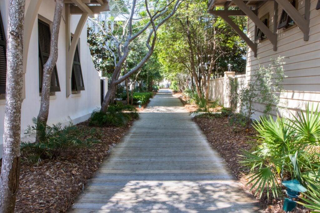 Boardwalk at Rosemary Beach, Florida.