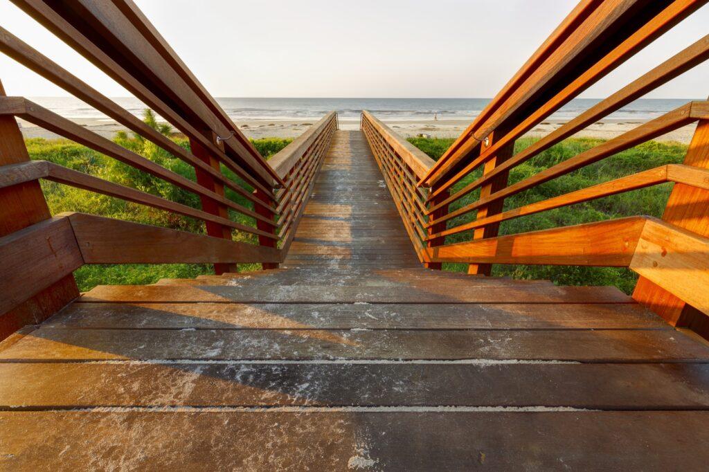 Boardwalk to a beach on Hilton Head Island.