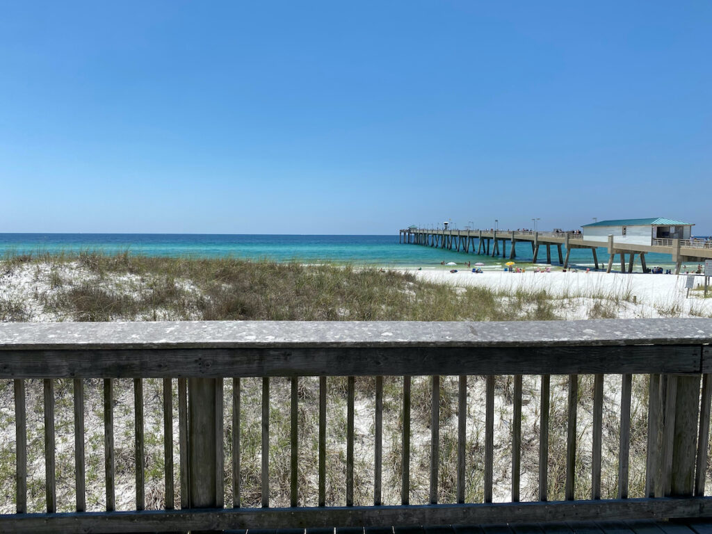 Boardwalk views on Okaloosa Island in Florida.