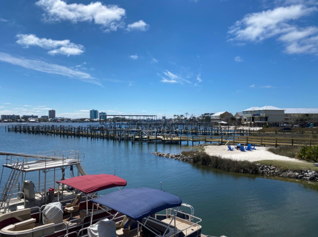 Boats at The Wharf's marina.