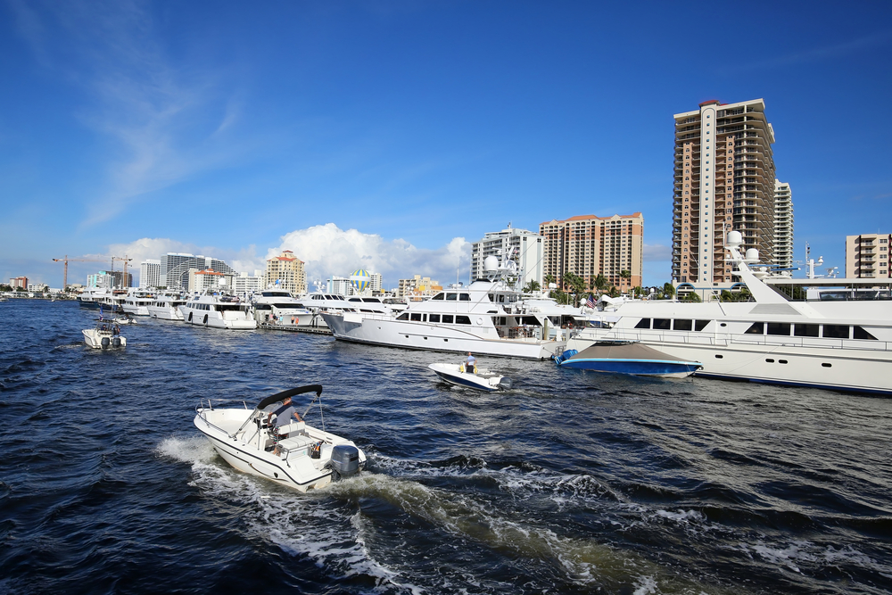 Boats in Fort Lauderdale, Florida.