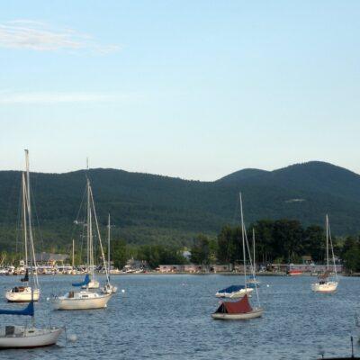 Boats in Lake Winnipesaukee.