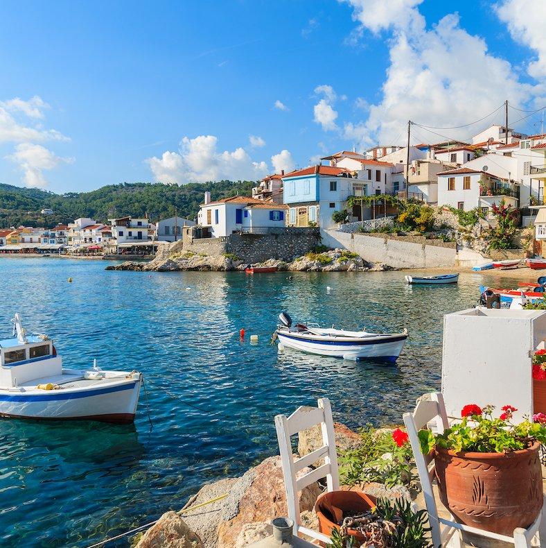 Boats near Samos, Greece.