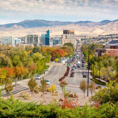 Boise, Idaho, with mountain views.