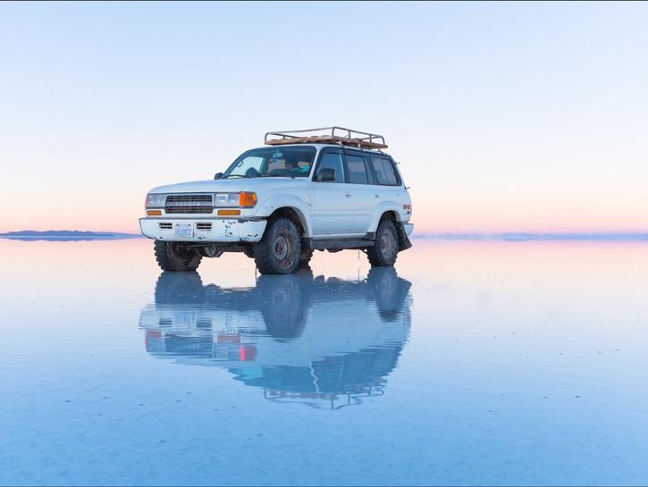 Bolivia salt flats water