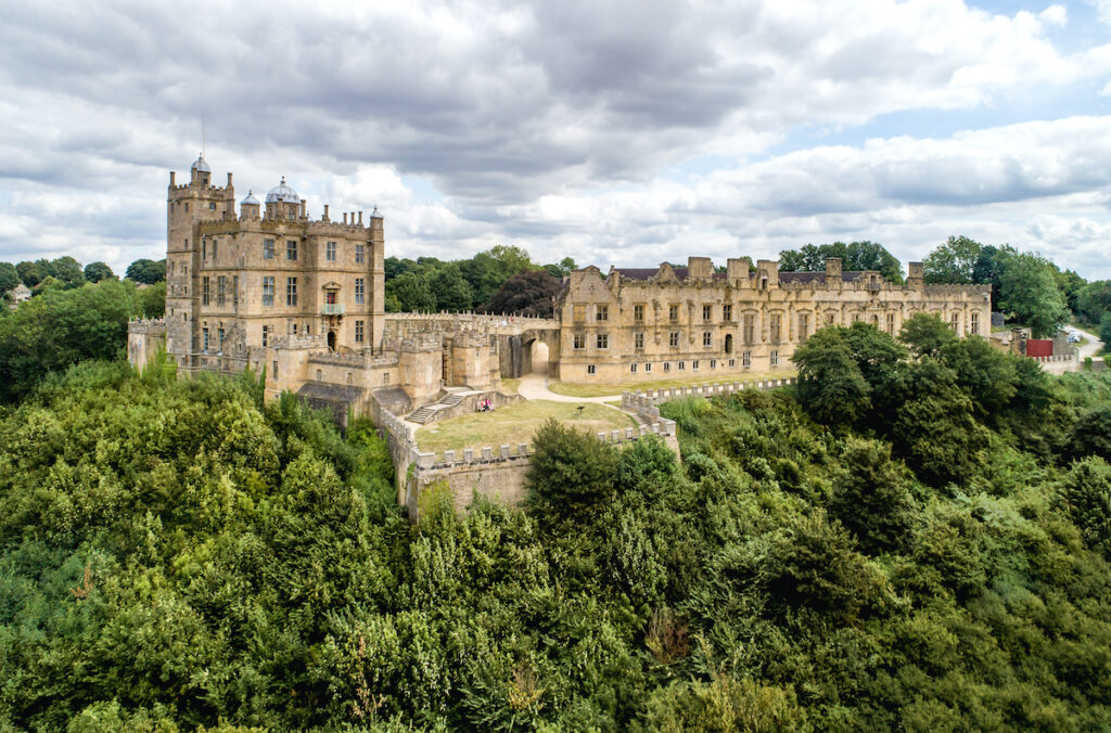 Bolsover Castle in Derbyshire, England.