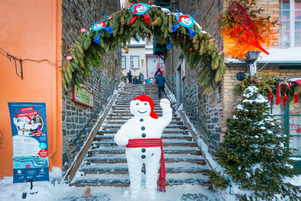 Bonhomme, the mascot of the Quebec City Winter Carnival.