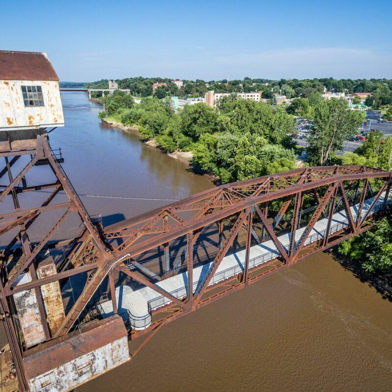 Boonville's Katy Bridge over the Missouri River.