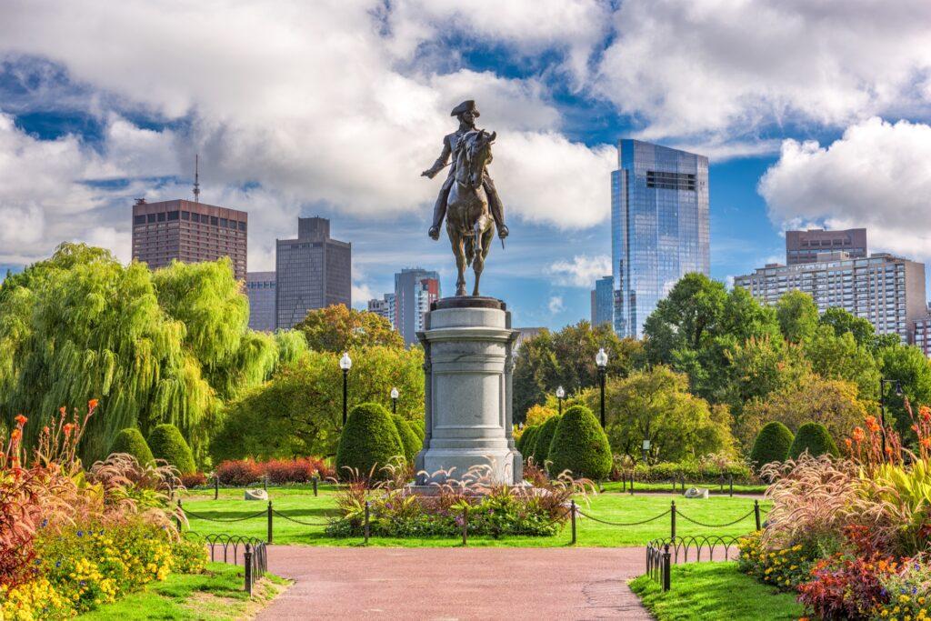 Boston Common in Massachusetts.