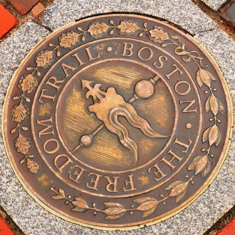 Boston Freedom Trail Marker.