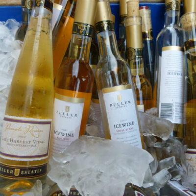 Bottles of ice wine from Peller Estates Winery.