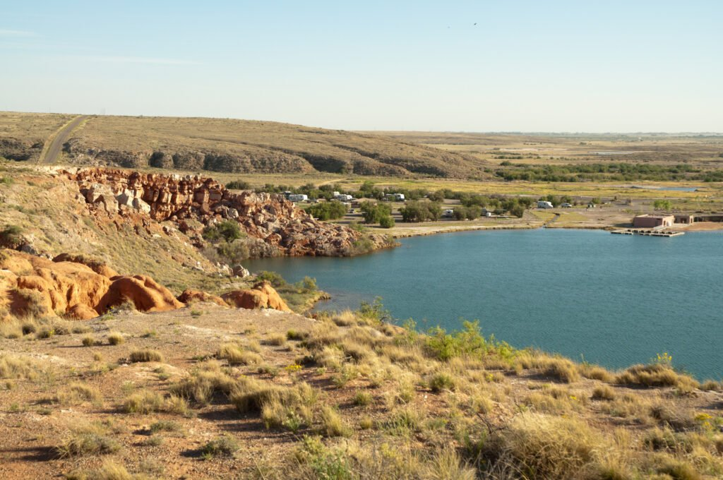 Bottomless Lakes State Park near Roswell, New Mexico.