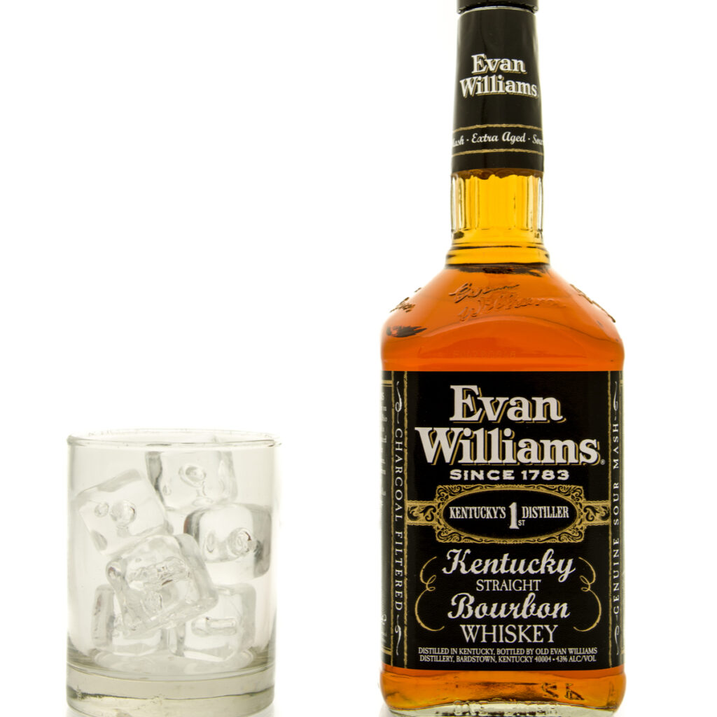 Bourbon from Evan Williams in Louisville.