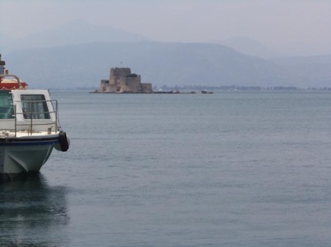 Bourtzi Castle, Nafplio, Greece.