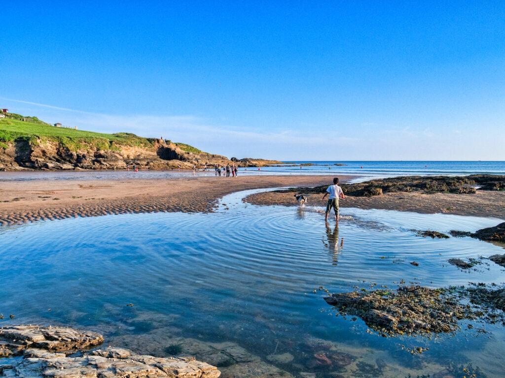 Bovisand Beach in Devon, UK.