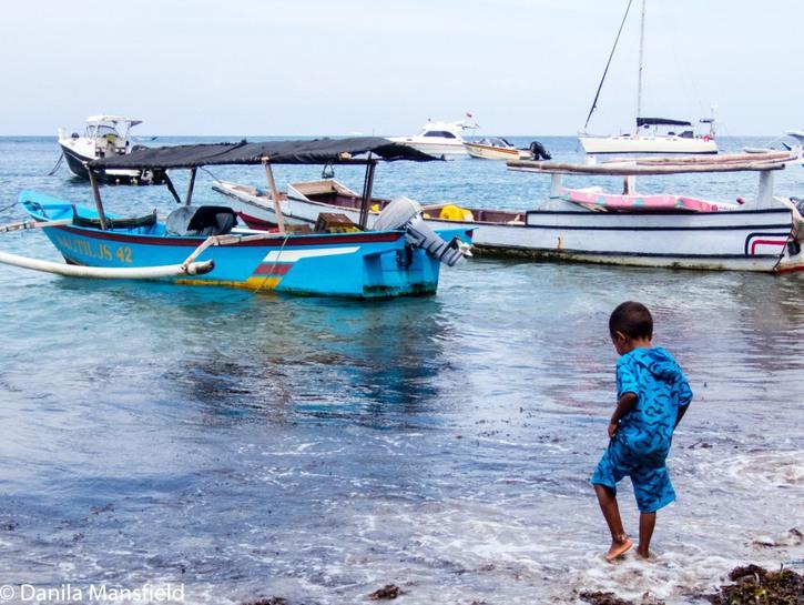 Boy on the beach, Atauro Island, Timor-Leste.