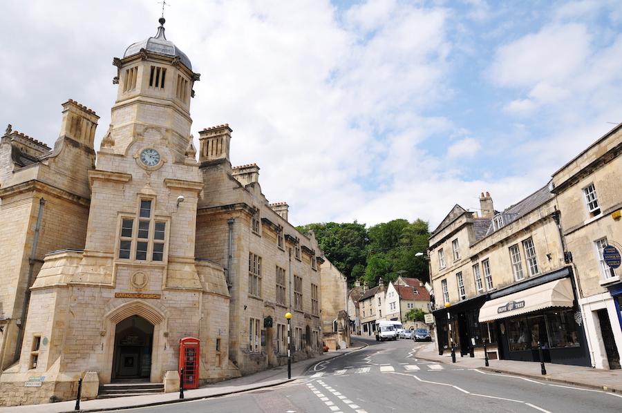 Bradford-On-Avon in Wiltshire, England.