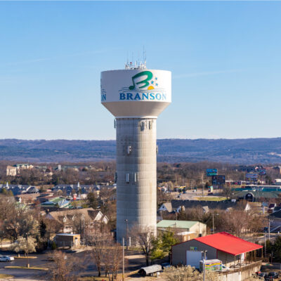 Branson water tower.