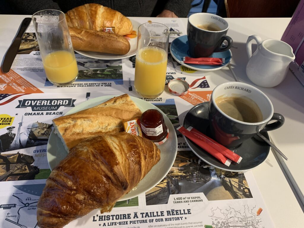 Breakfast at Au Georges VII in Bayeux.