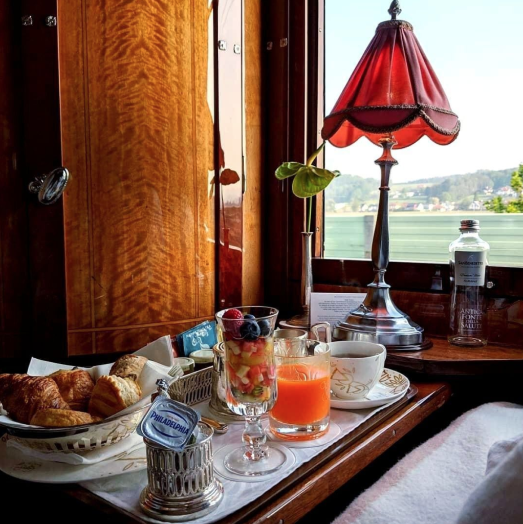 Breakfast on the Orient Express.