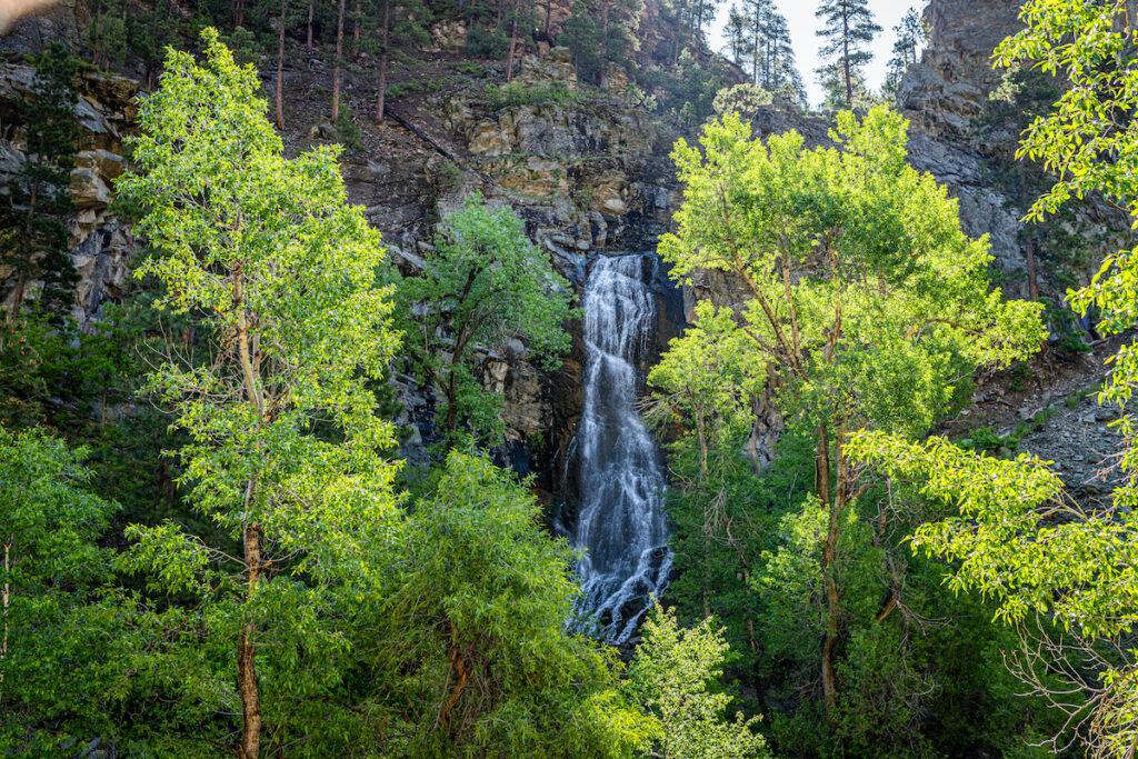 Bridal Veil Falls in South Dakota.