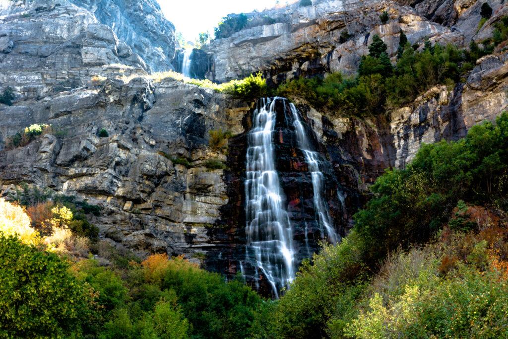 Bridal Veil Falls in Utah.