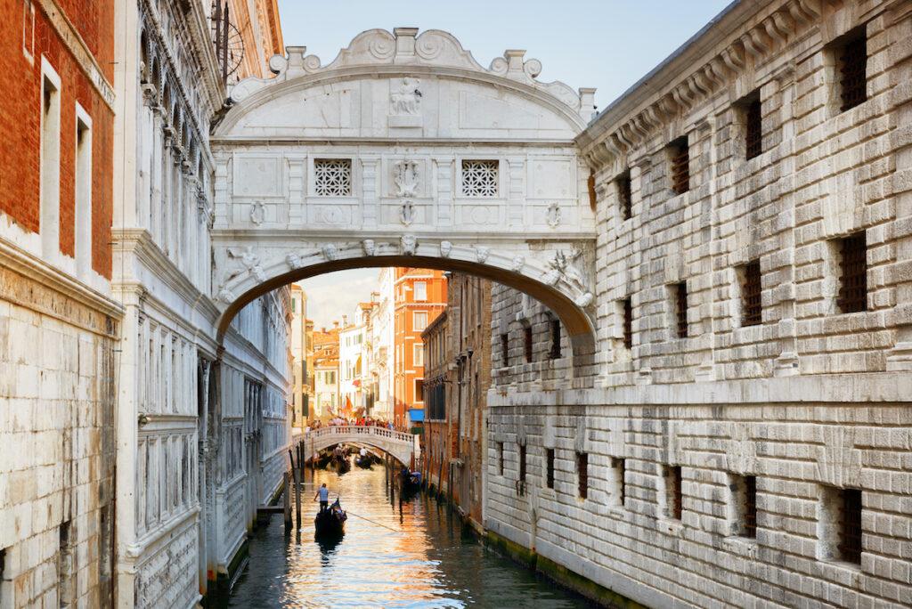 Bridge Of Sighs in Venice, Italy.