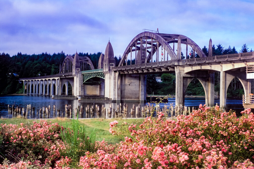 Bridge over the Siuslaw River in Florence, Oregon.