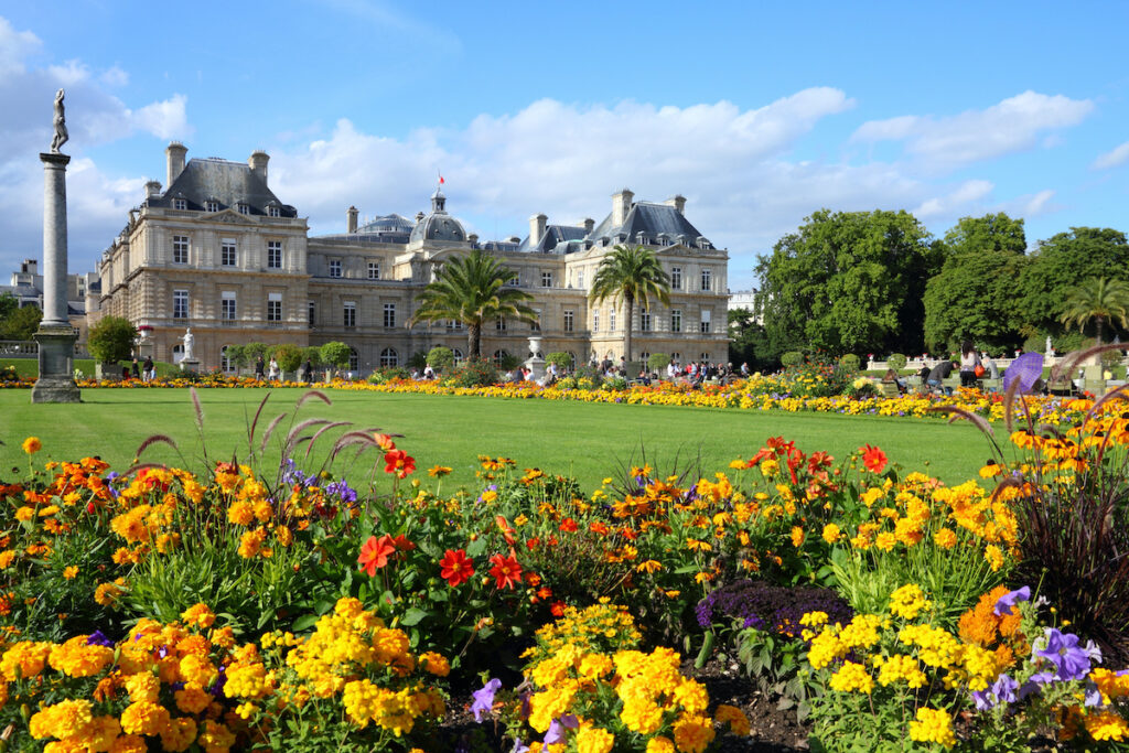 Bright and lush Luxembourg Gardens.