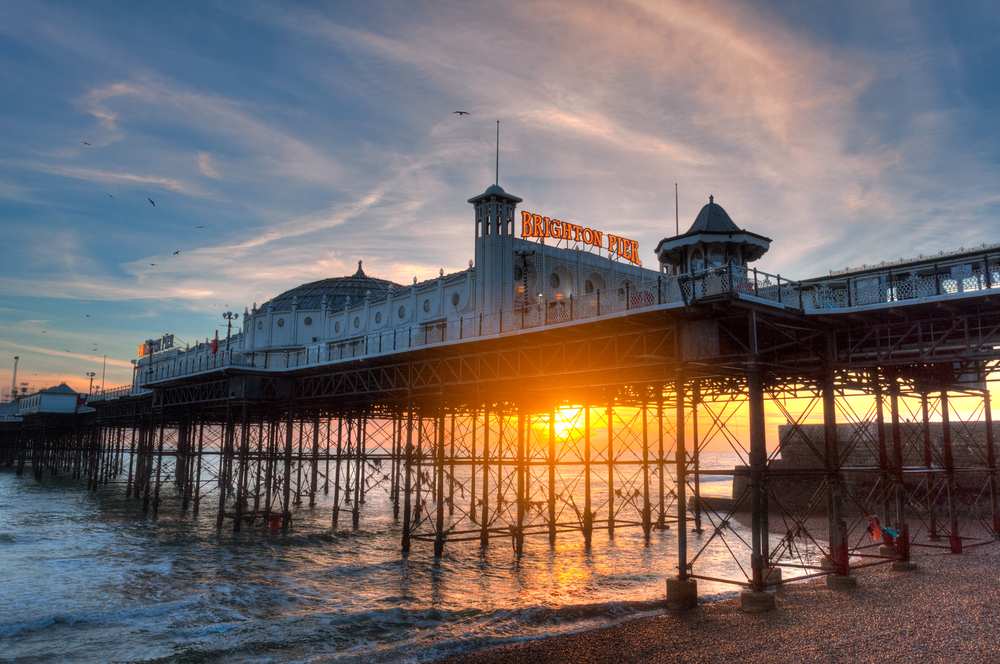 Brighton Pier in the UK.