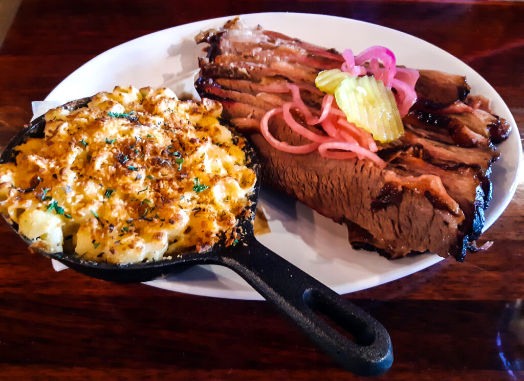 Brisket meal from Brown Chicken Brown Cow