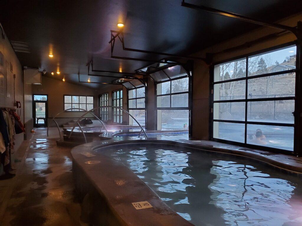 Broadwater hot springs.
