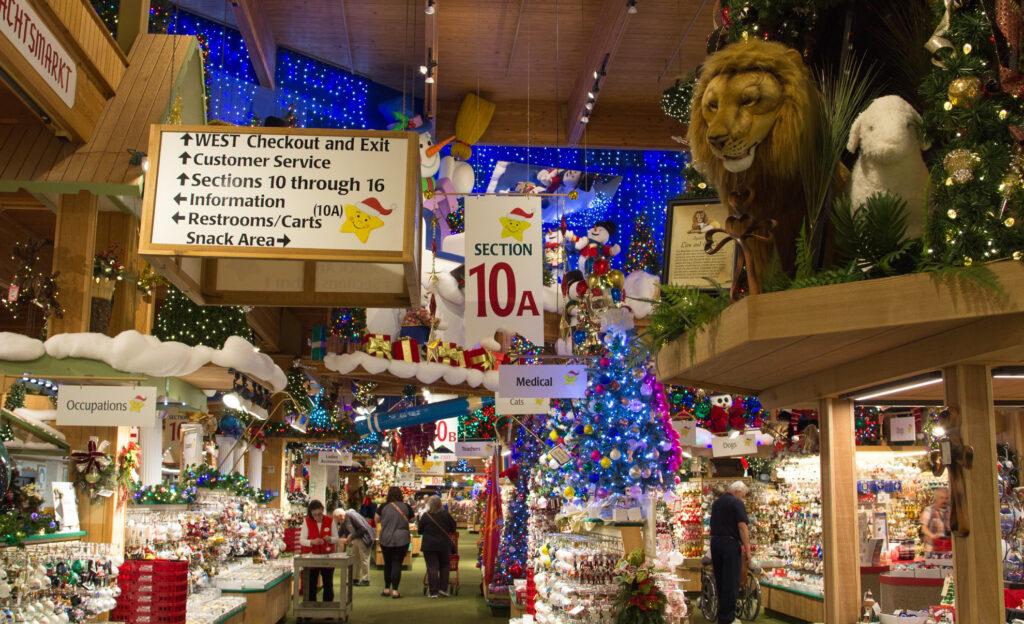 Bronner's Christmas Wonderland in Frankenmuth, Michigan.