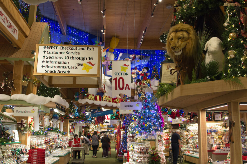 Bronner's, the world's largest Christmas store, in Frankenmuth.
