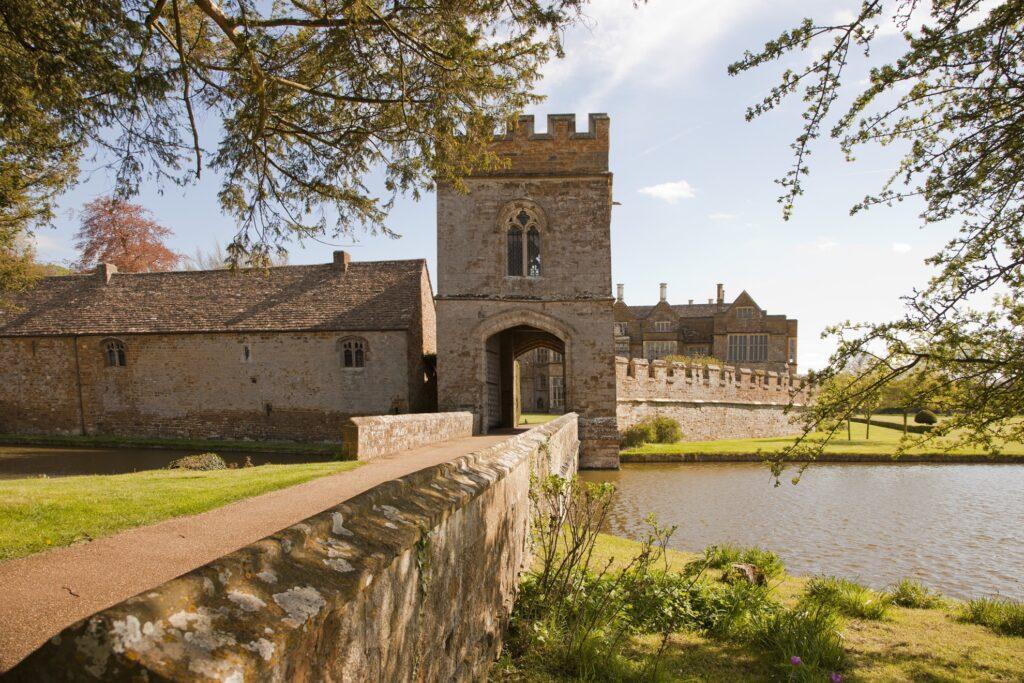 Broughton Castle in Branbury, England.