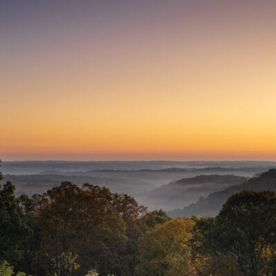Brown County State Park at sunrise.