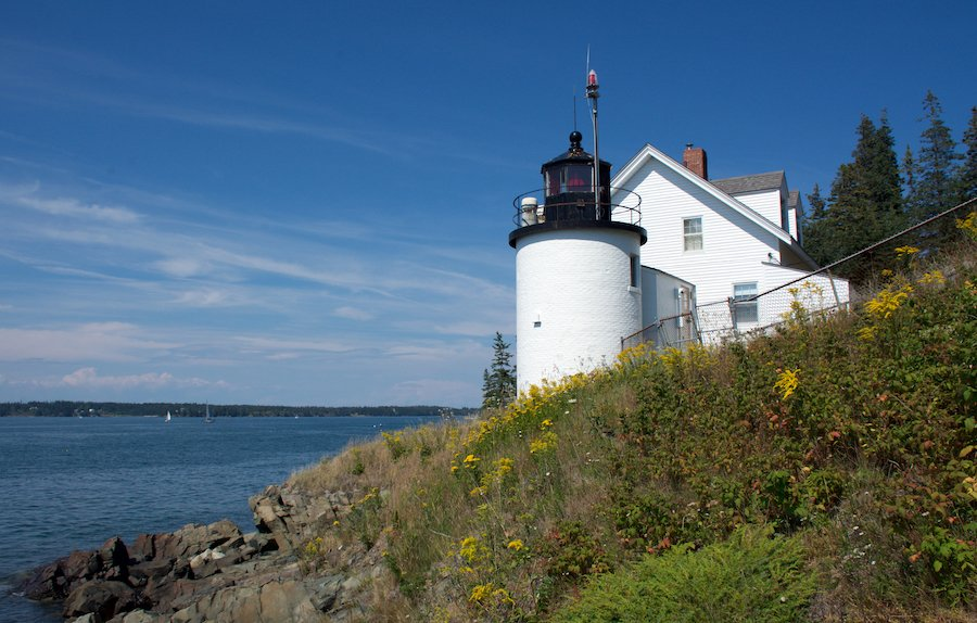 Browns Head Lighthouse in Vinalhaven, Maine.