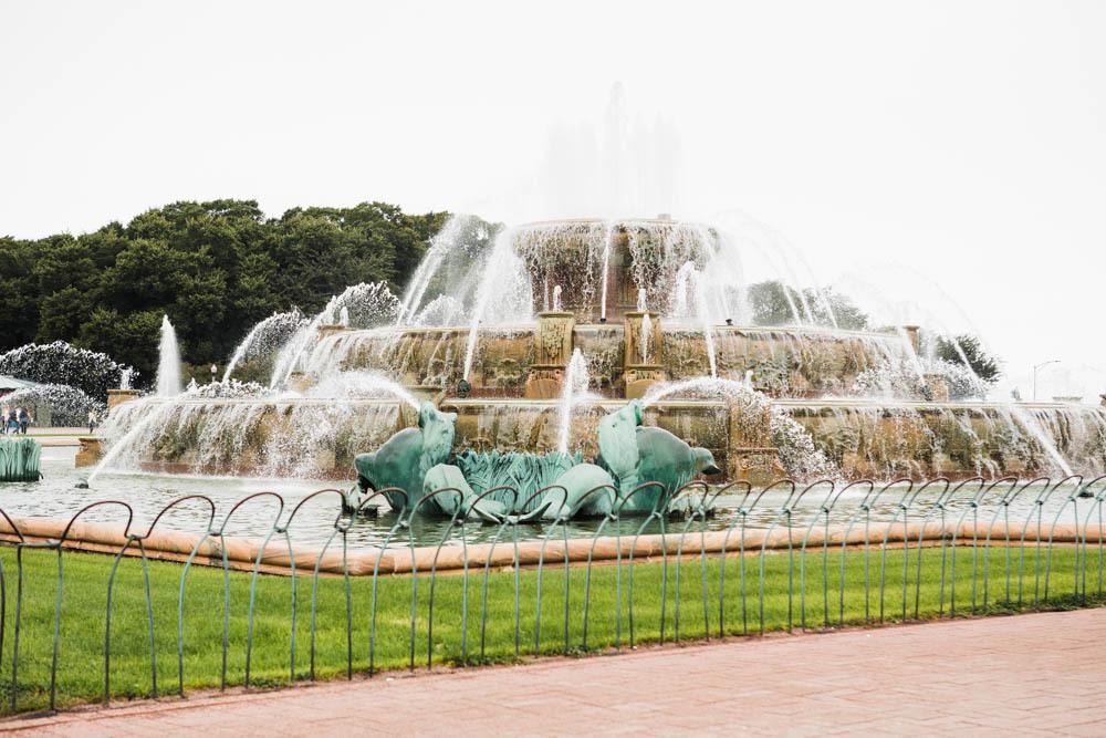 Buckingham Fountain in Chicago's Grant Park.
